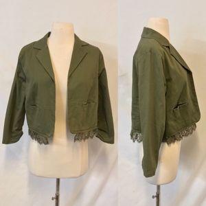 Princess Vera Wang Olive Green Cropped Jacket